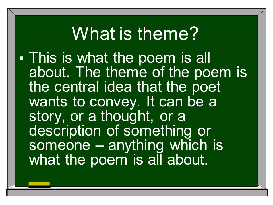 What is theme