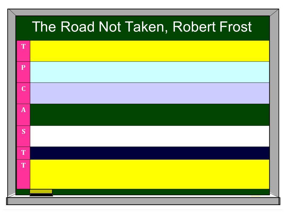The Road Not Taken, Robert Frost