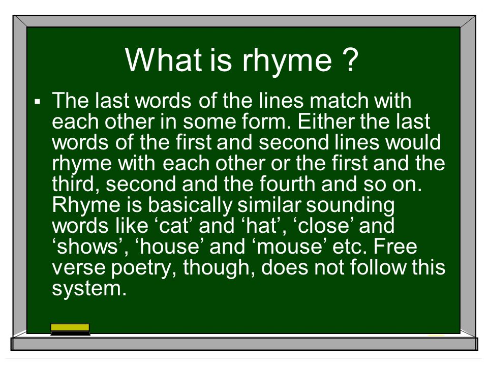 What is rhyme