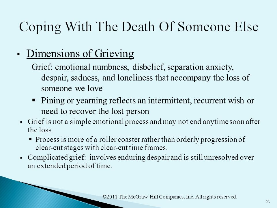 Coping With The Death Of Someone Else