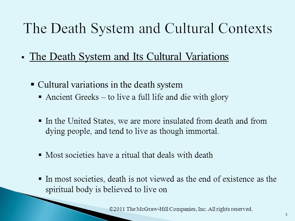 The Death System and Cultural Contexts