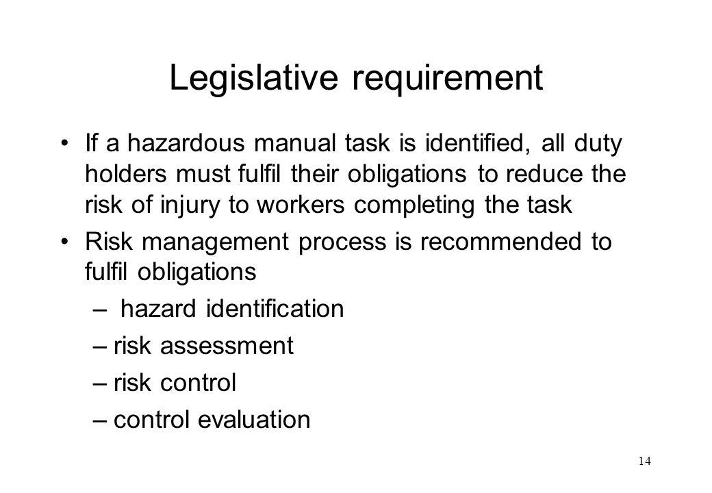 Legislative requirement