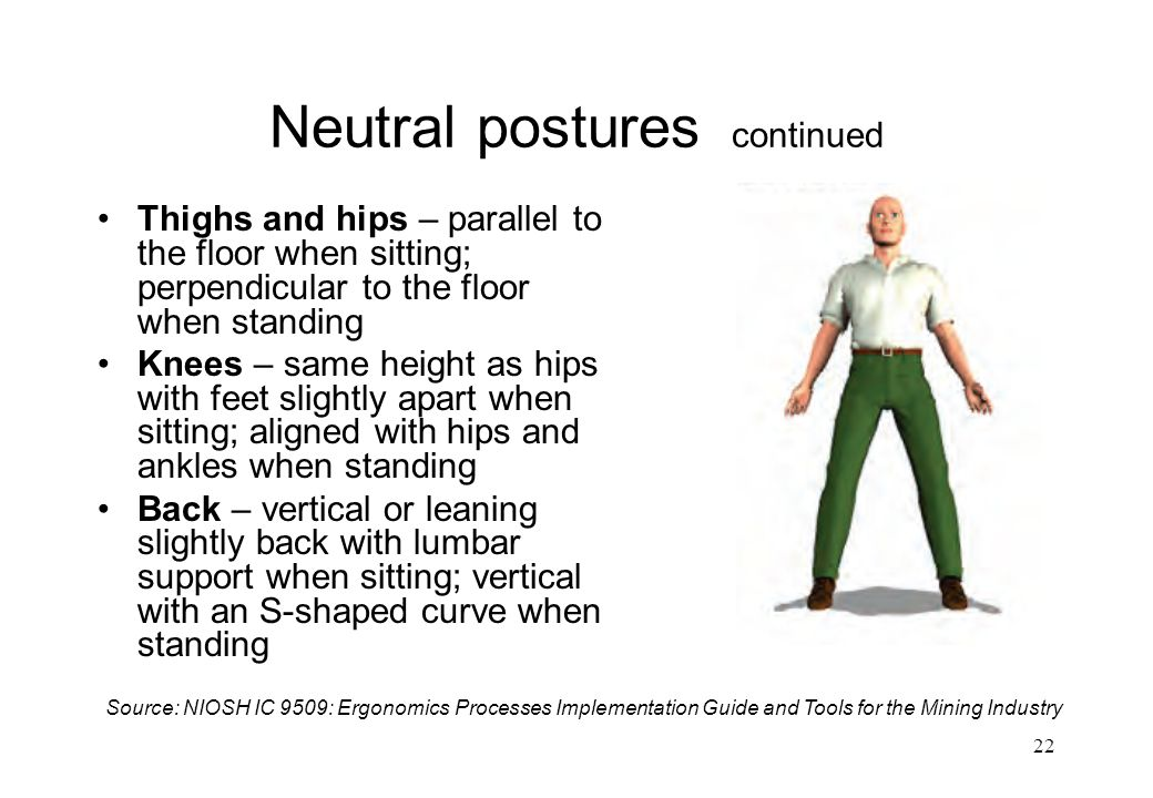 Neutral postures continued
