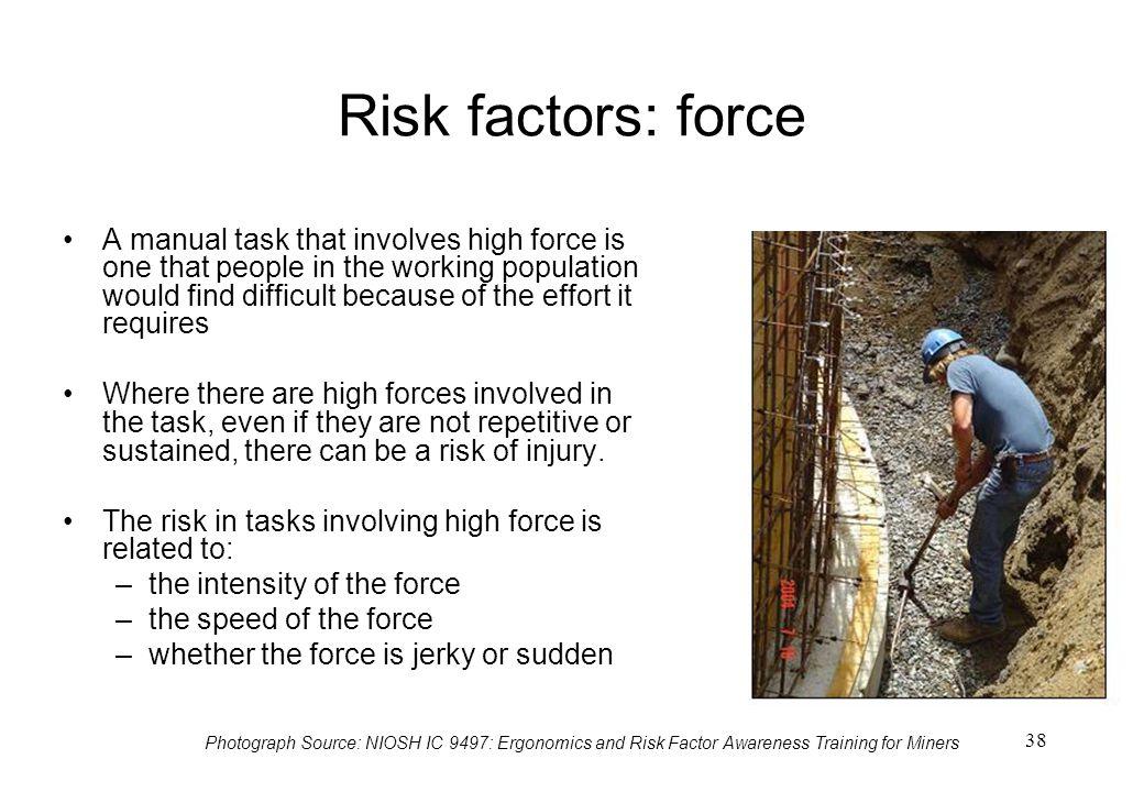 Risk factors: force