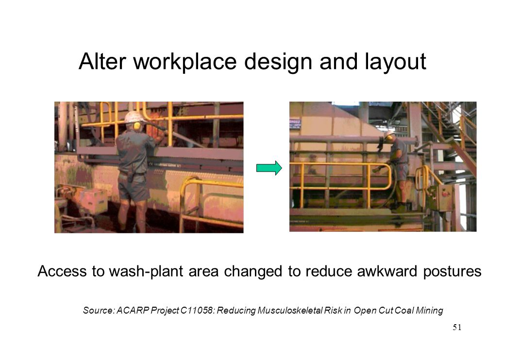 Alter workplace design and layout