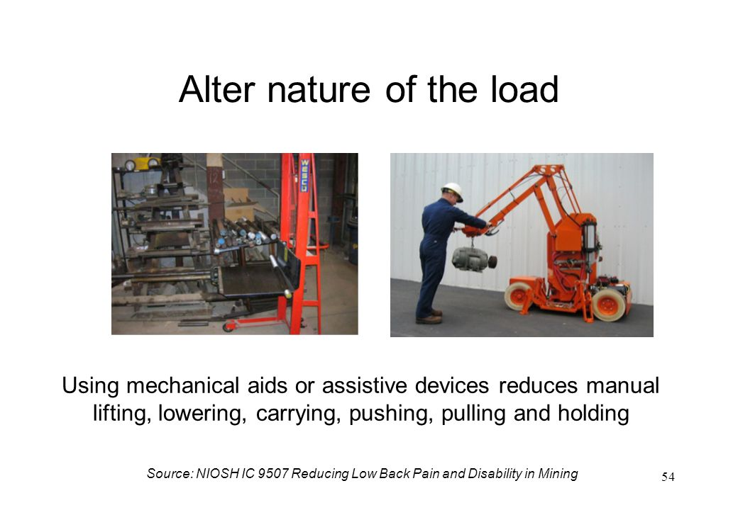 Alter nature of the load