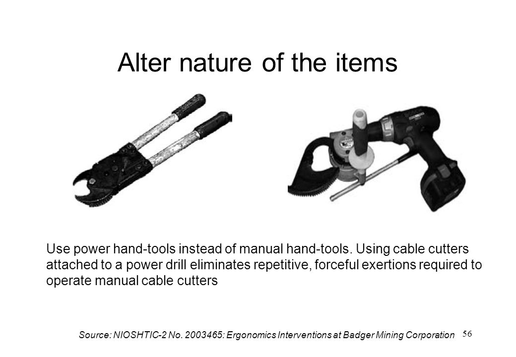 Alter nature of the items