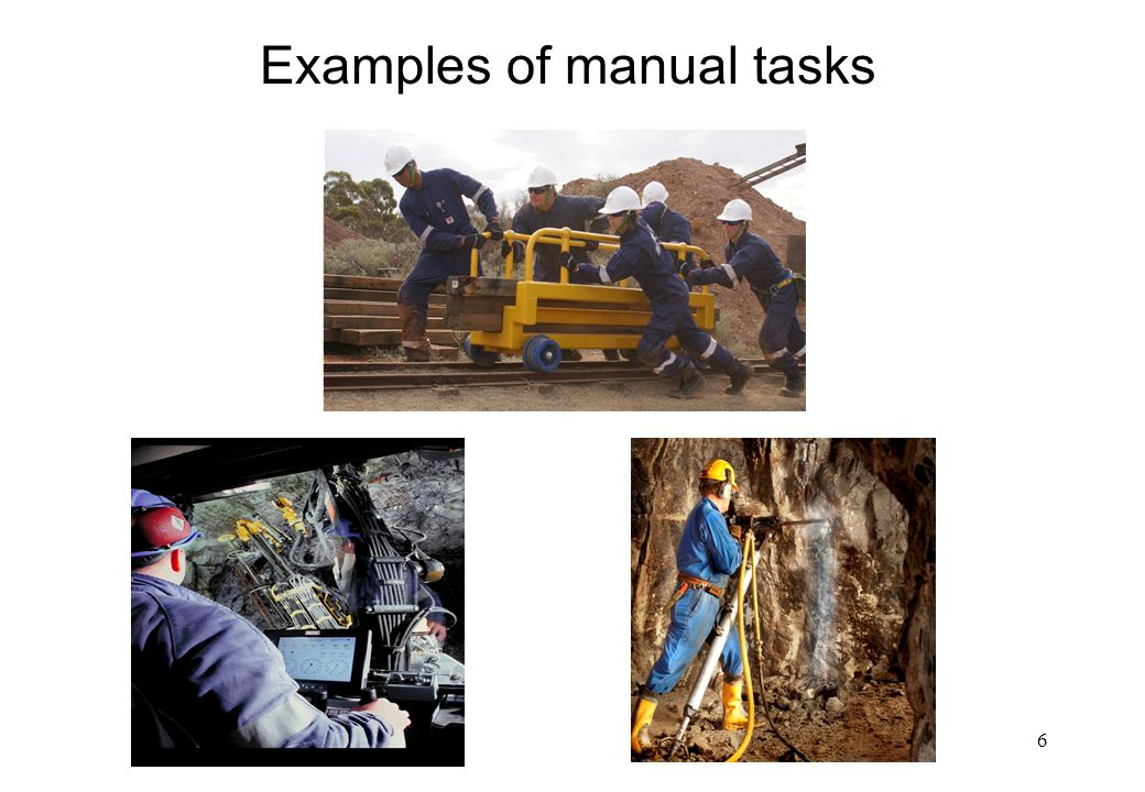 Examples of manual tasks