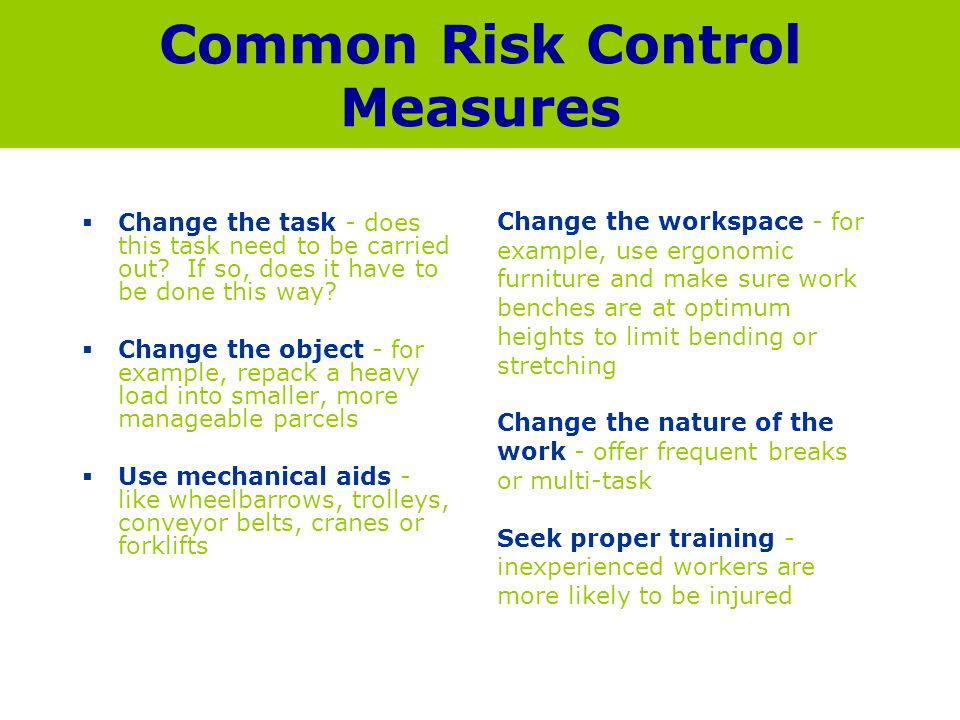 Common Risk Control Measures