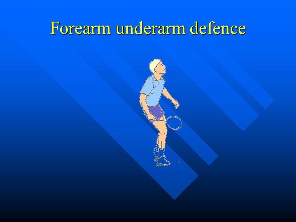 Forearm underarm defence