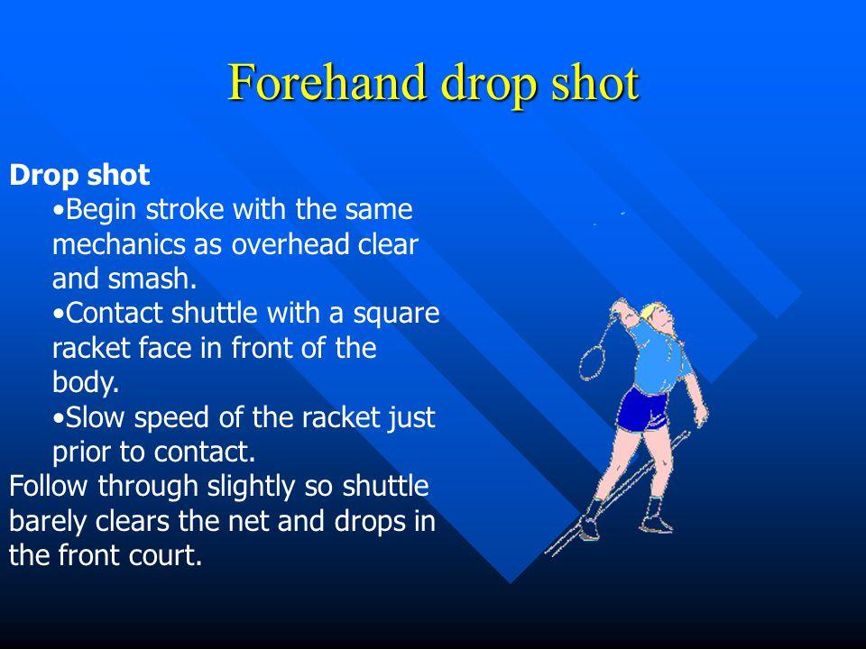 Forehand drop shot Drop shot