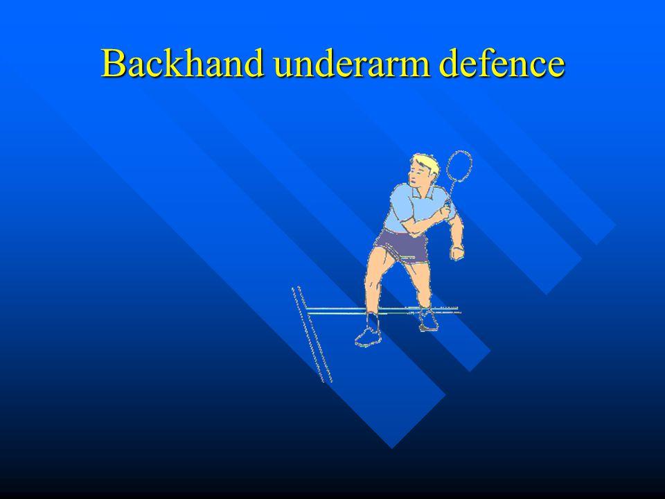 Backhand underarm defence