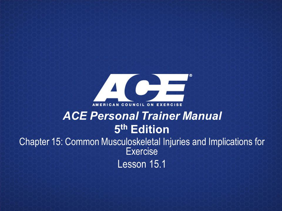 ACE Personal Trainer Manual 5th Edition