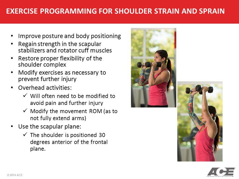 EXERCISE PROGRAMMING FOR SHOULDER STRAIN AND SPRAIN