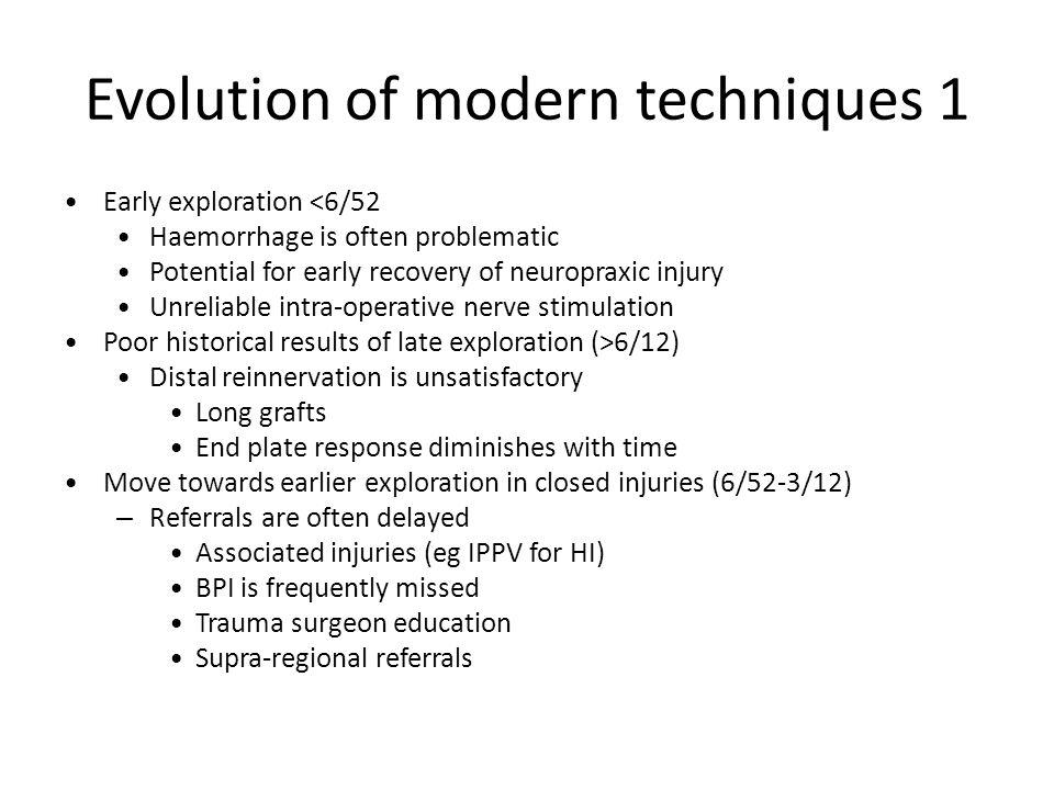 Evolution of modern techniques 1