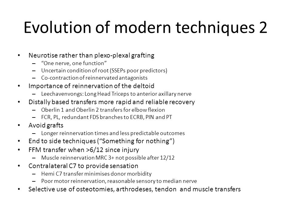 Evolution of modern techniques 2