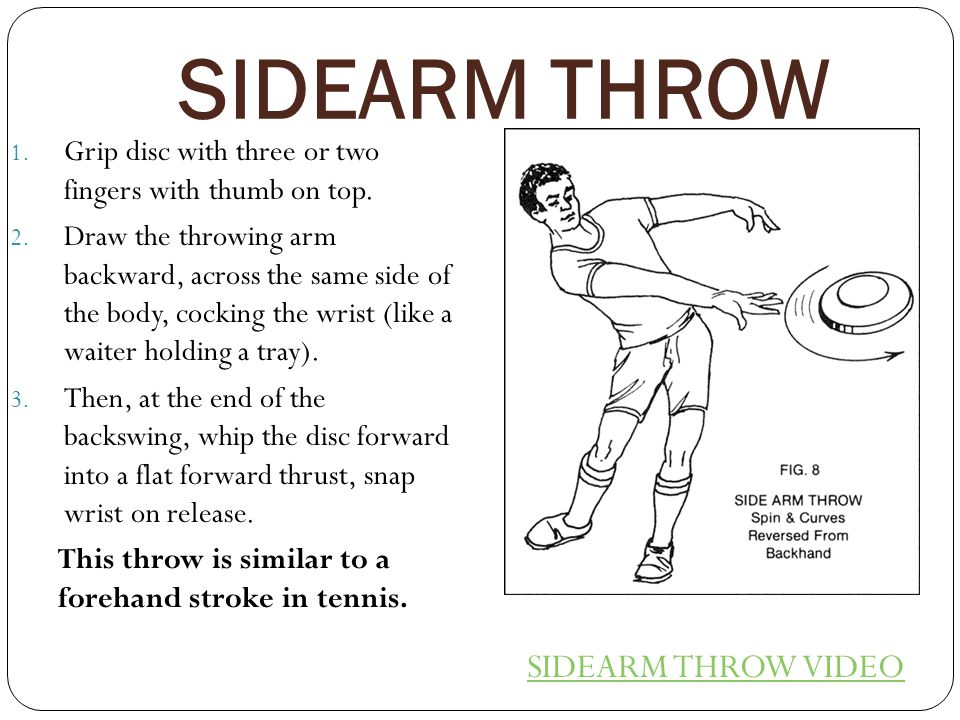 SIDEARM THROW SIDEARM THROW VIDEO