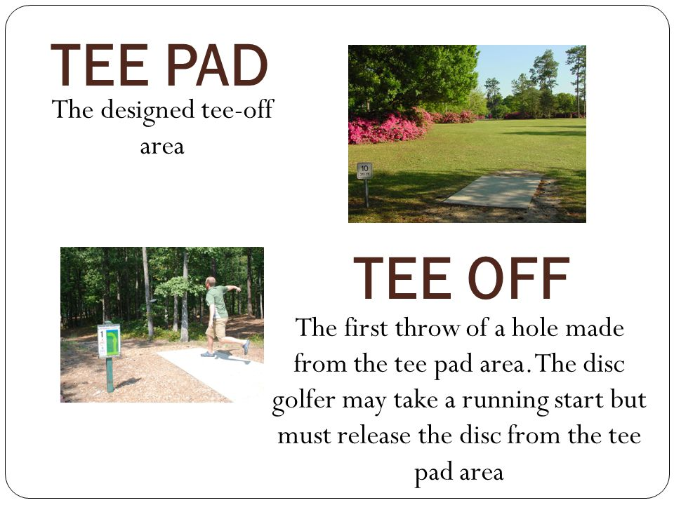 The designed tee-off area