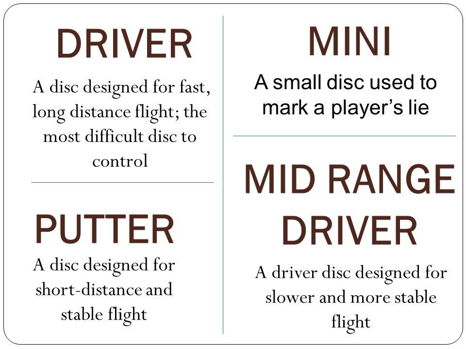 DRIVER MINI MID RANGE DRIVER PUTTER