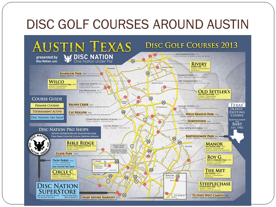 DISC GOLF COURSES AROUND AUSTIN
