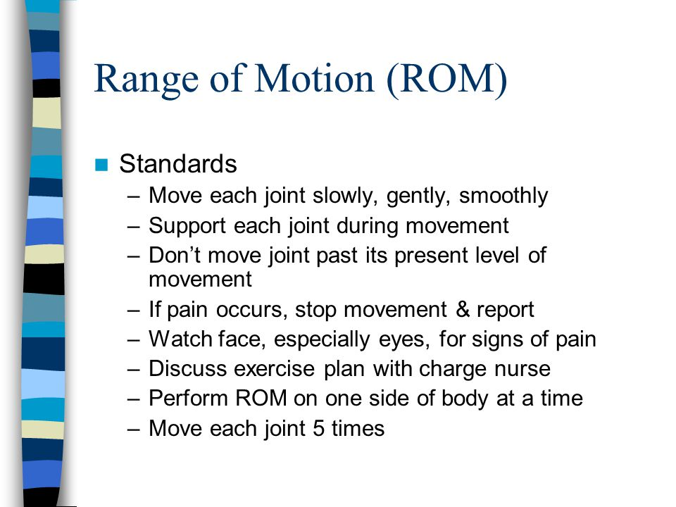 Range of Motion (ROM) Standards