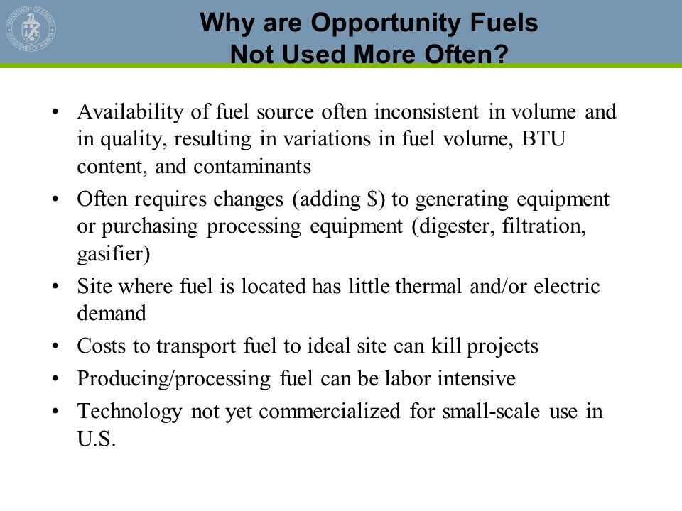 Why are Opportunity Fuels Not Used More Often