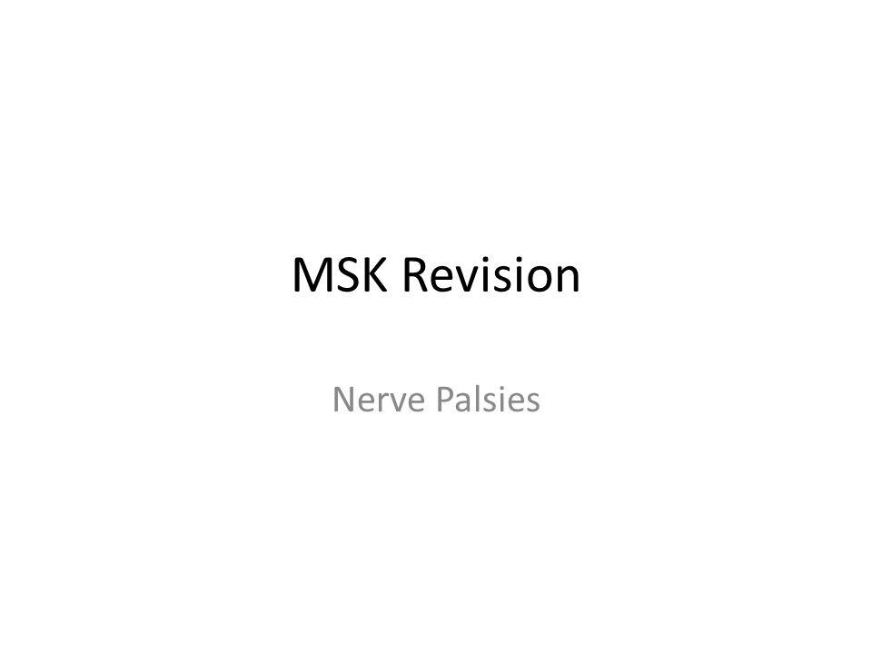 MSK Revision Nerve Palsies