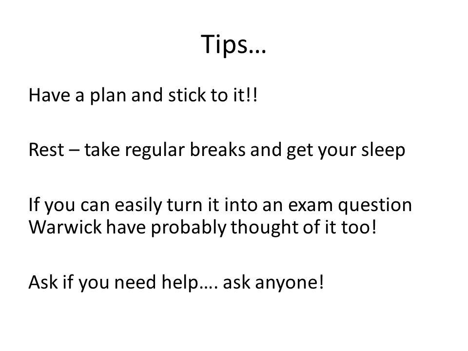 Tips …