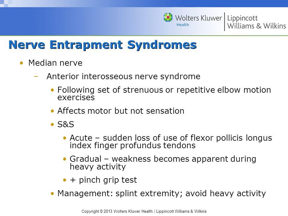 Nerve Entrapment Syndromes