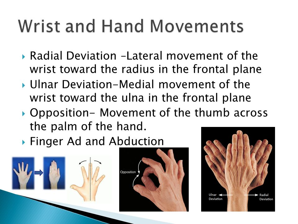 Wrist and Hand Movements