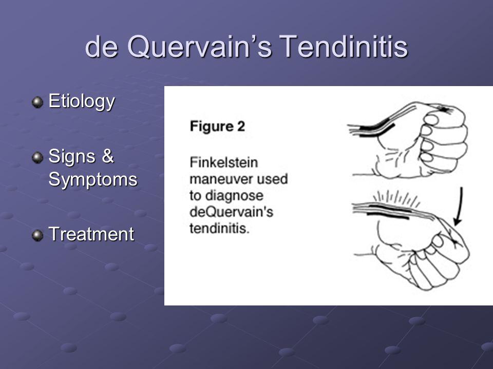 de Quervain's Tendinitis
