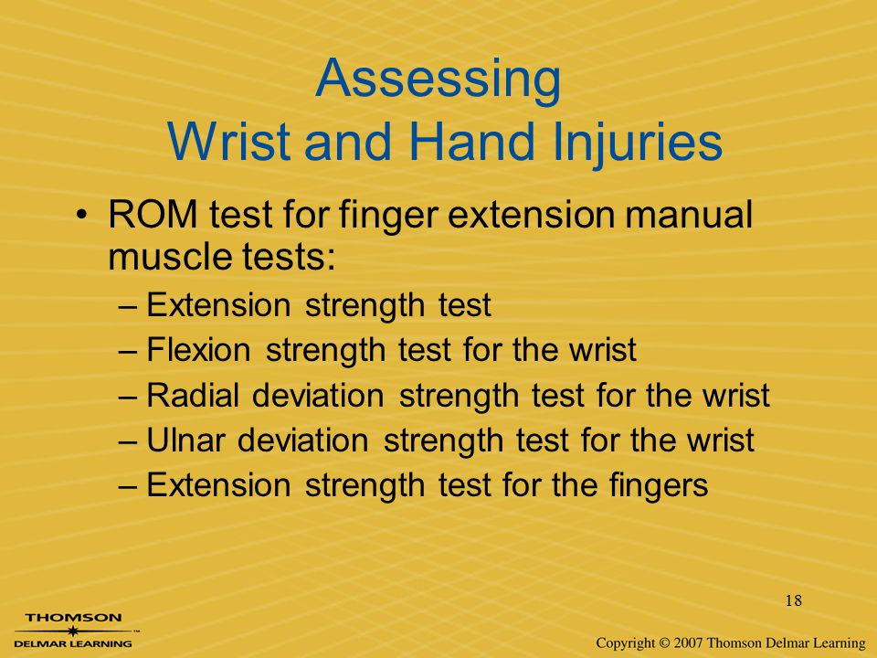 Assessing Wrist and Hand Injuries