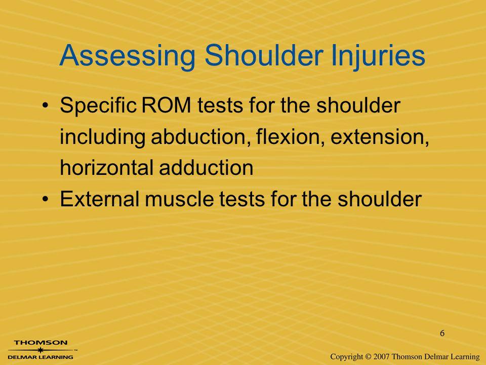Assessing Shoulder Injuries