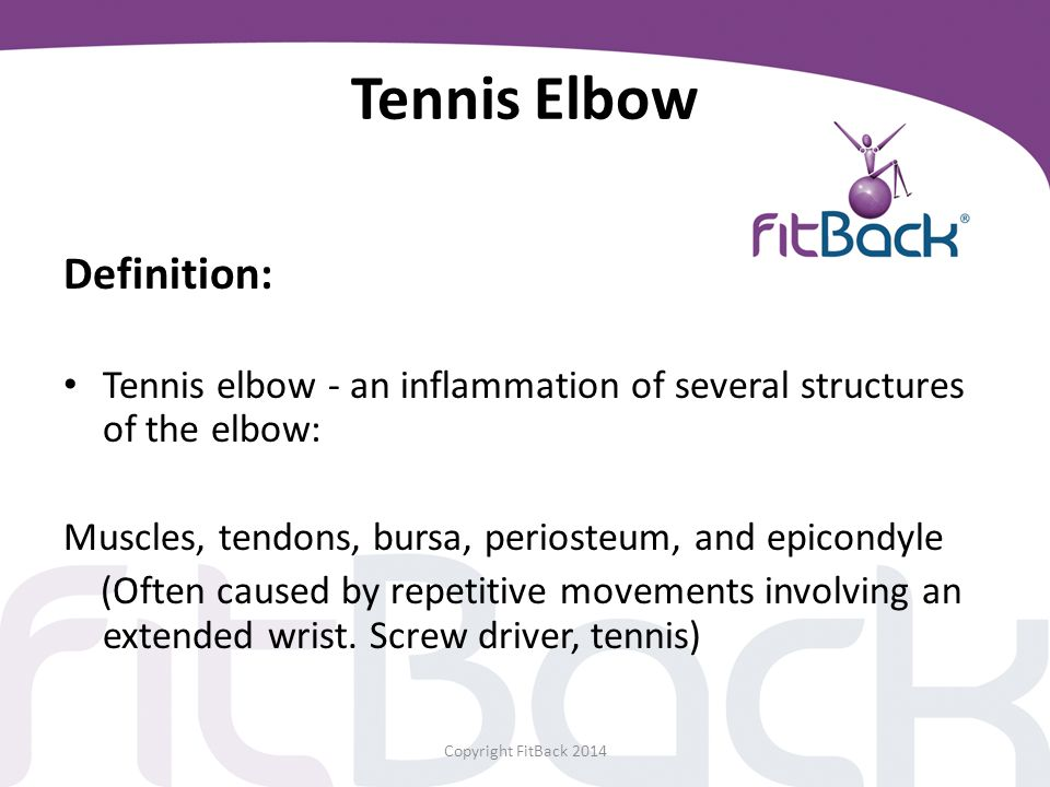 Tennis Elbow Definition:
