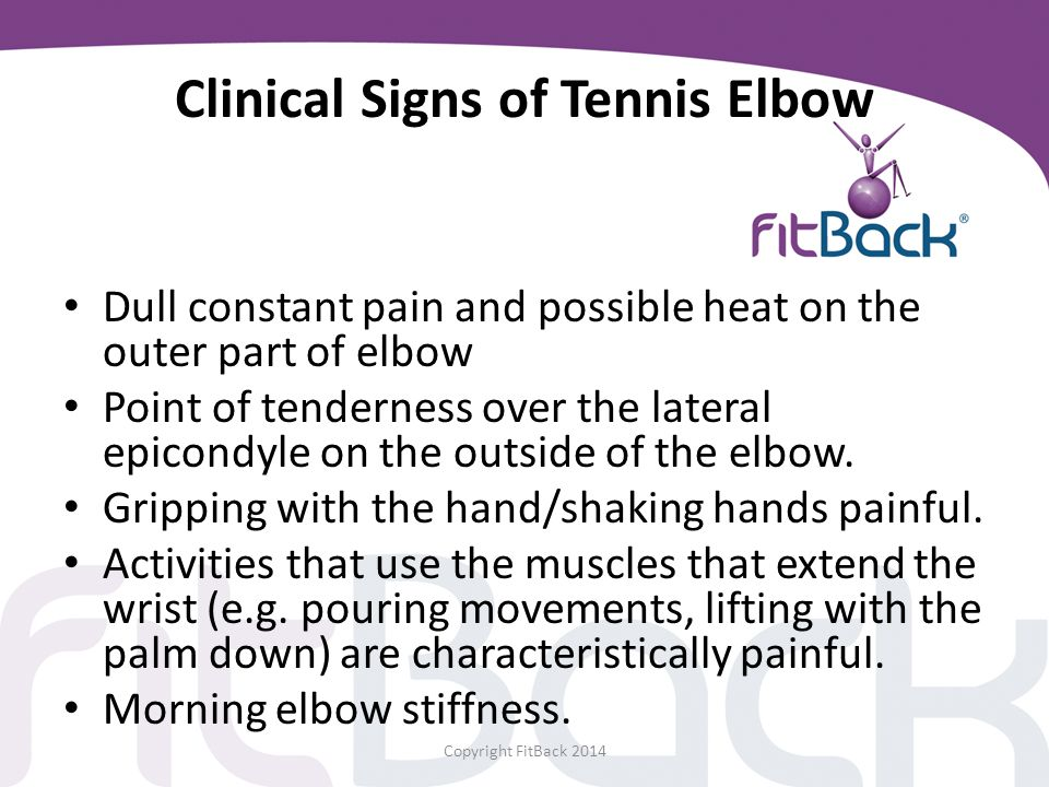 Clinical Signs of Tennis Elbow
