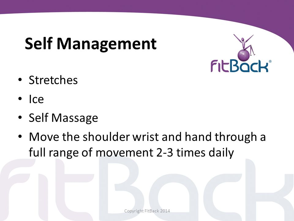 Self Management Stretches Ice Self Massage