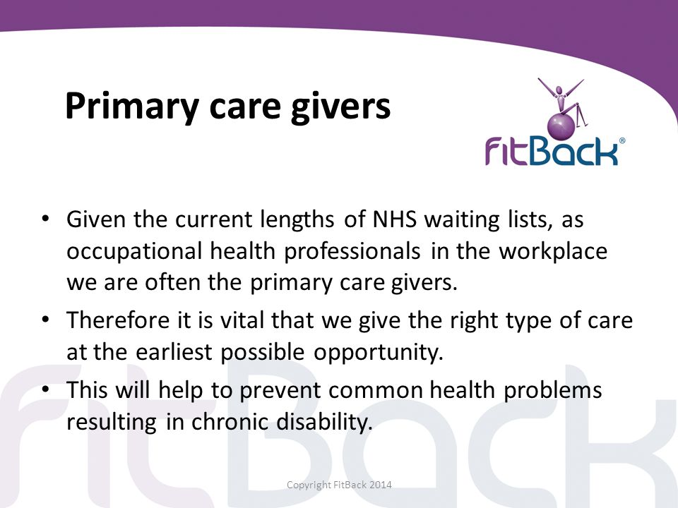 Primary care givers
