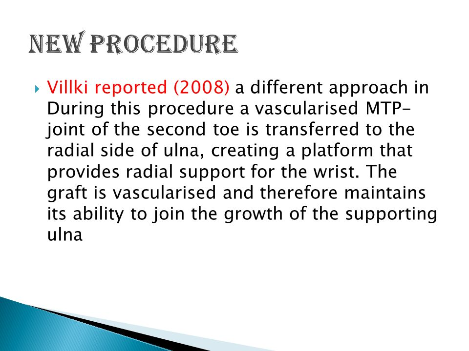 New Procedure