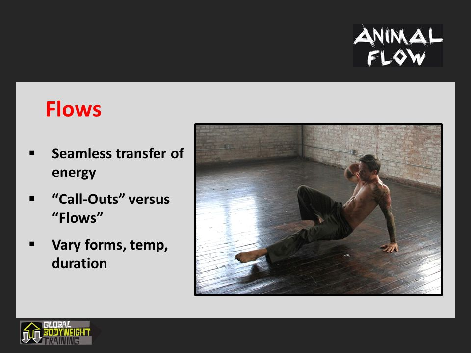 Flows Seamless transfer of energy Call-Outs versus Flows