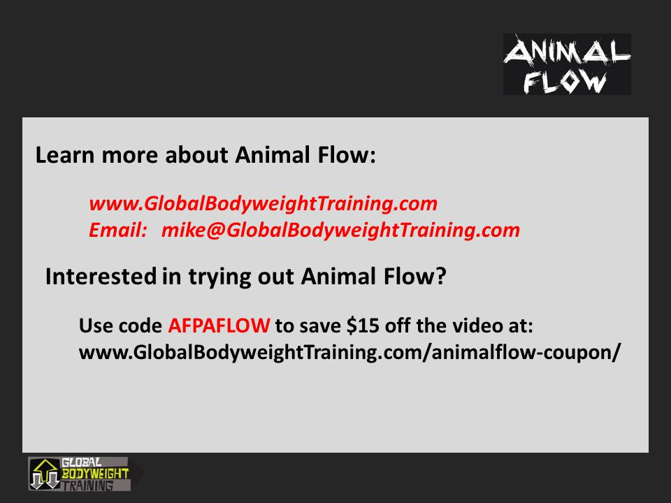Learn more about Animal Flow: