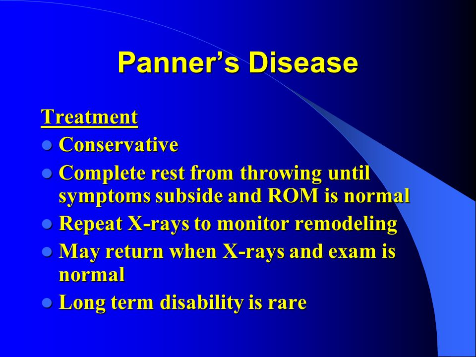 Panner's Disease Treatment Conservative