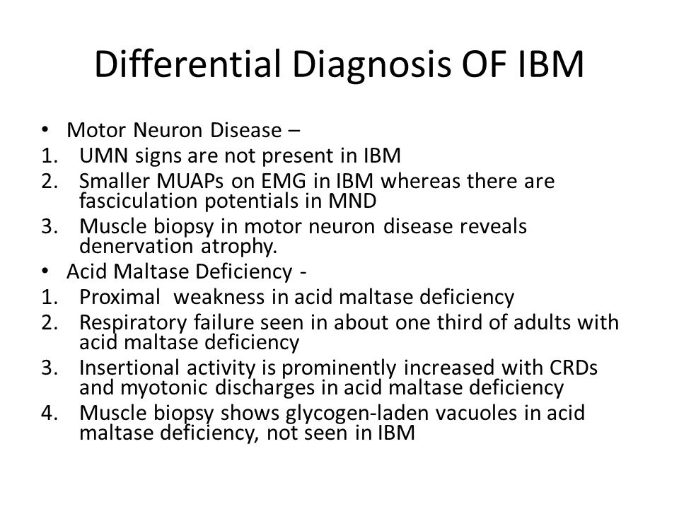 Differential Diagnosis OF IBM