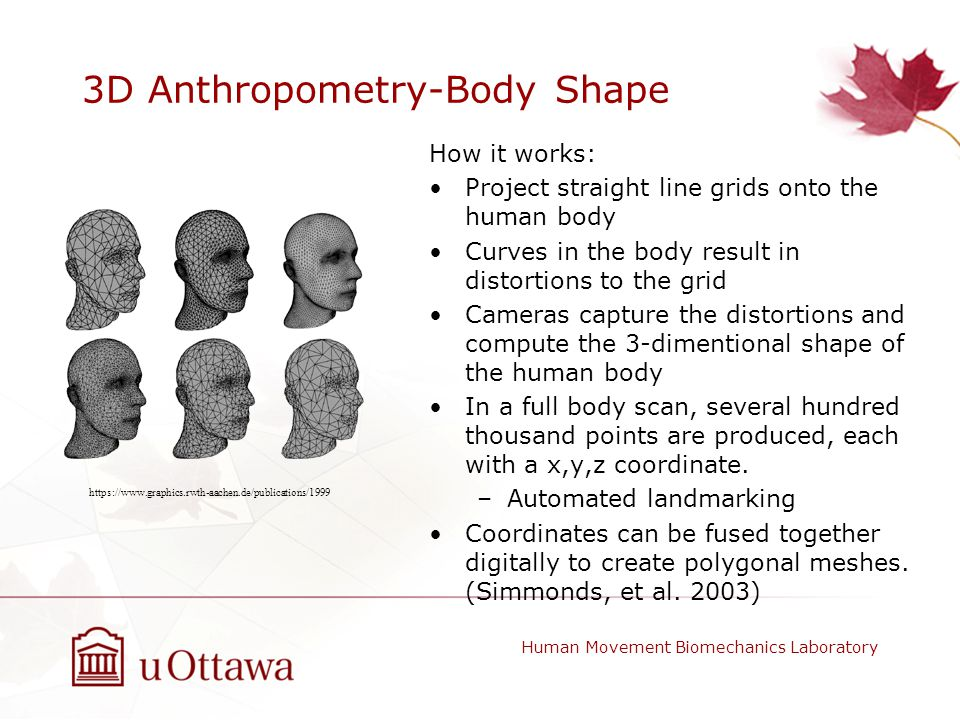 3D Anthropometry-Body Shape