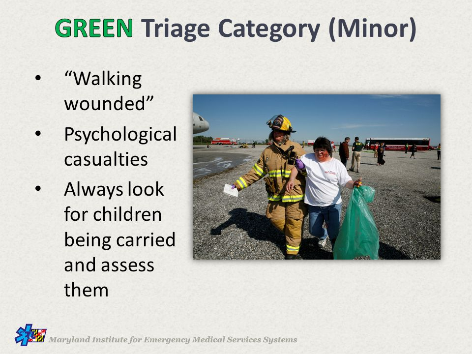GREEN Triage Category (Minor)
