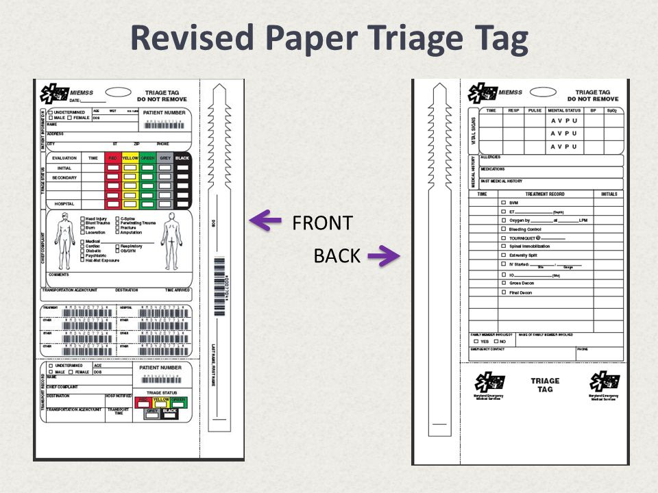 Revised Paper Triage Tag