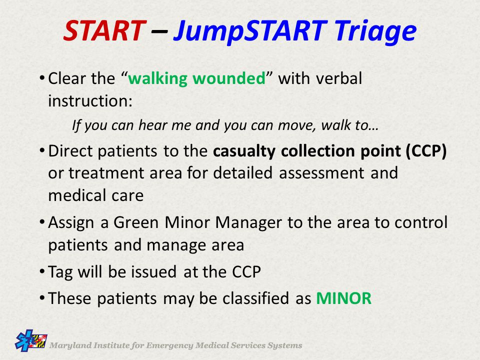 START – JumpSTART Triage