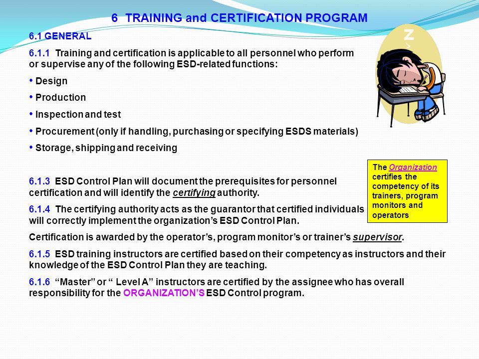 6 TRAINING and CERTIFICATION PROGRAM