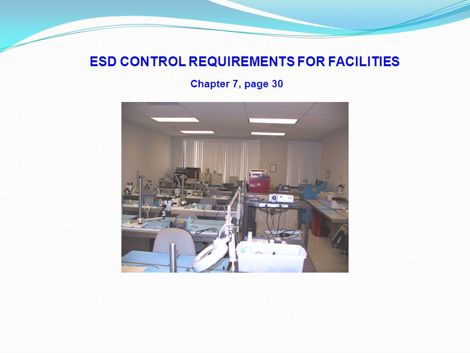 ESD CONTROL REQUIREMENTS FOR FACILITIES