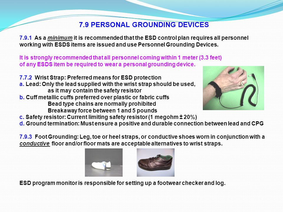 7.9 PERSONAL GROUNDING DEVICES