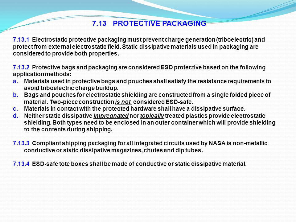 7.13 PROTECTIVE PACKAGING